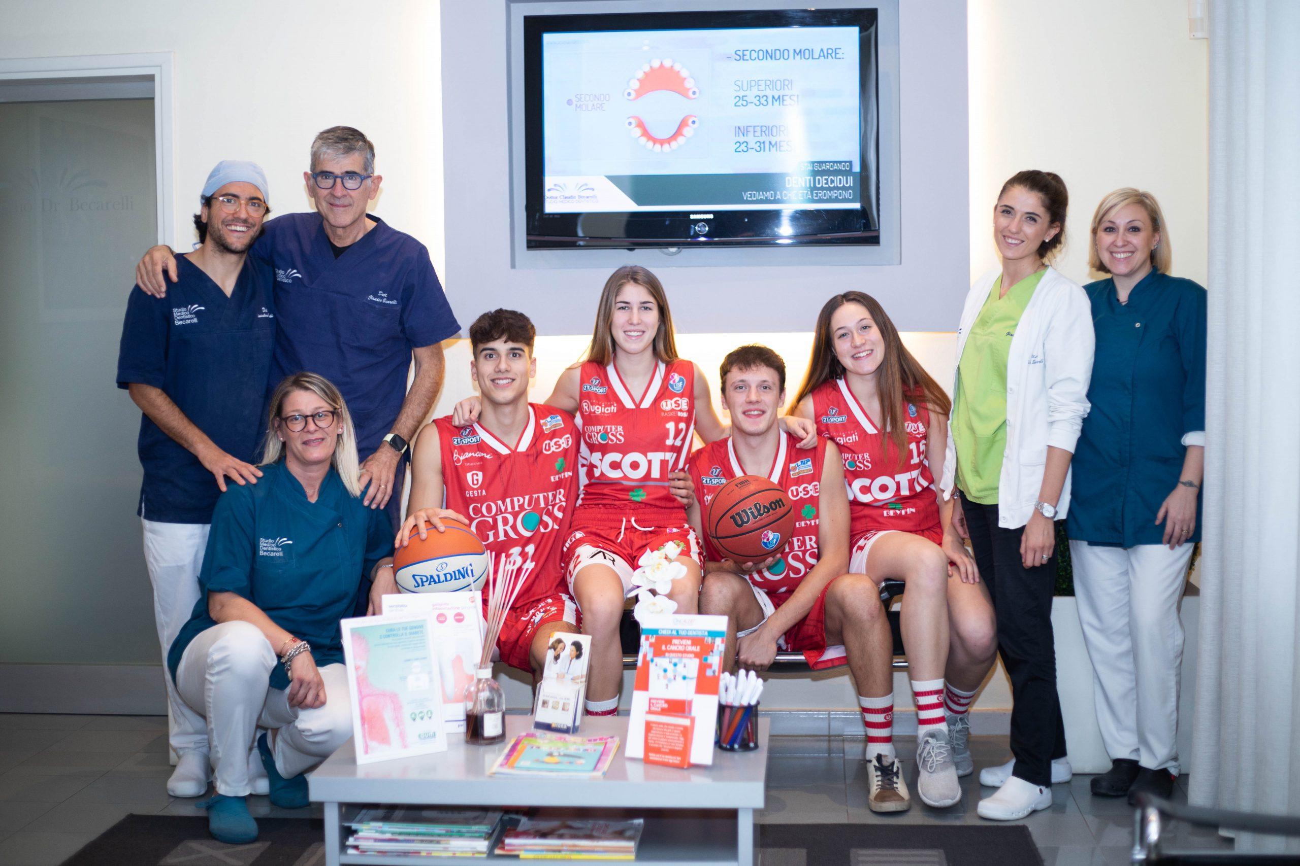 Sport e Salute - Collaborazione tra Studio Dentistico Becarelli e USE BASKET EMPOLI